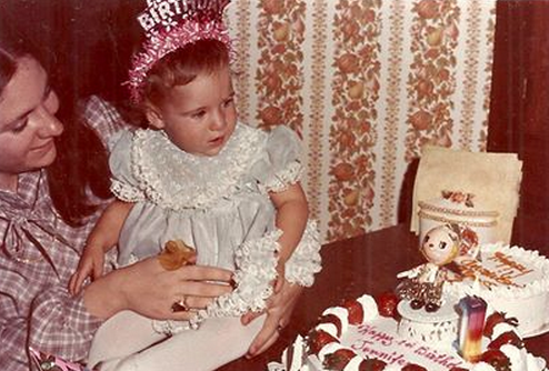 I have just been reminded that the factory where my grandmother worked also made baby clothing - as modeled here by yours truly at my first birthday in 1978.