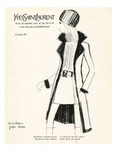 Belle de Jour Costume Sketch. Copyright: Fondation Pierre Bergé - Yves Saint Laurent
