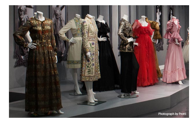 Installation view of Bellville Sassoon at the Fashion and Textile Museum,