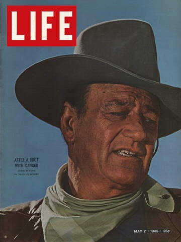 "John Wayne on the cover of LIFE magazine, May 7, 1958. Reproduced in ""John Wayne: The Genuine Article"" on page 51."