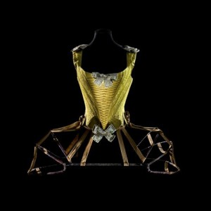 Pannier, 1770 and wired corset, 1740-60. Les Arts Décoratifs. Copyright: Patricia Canino