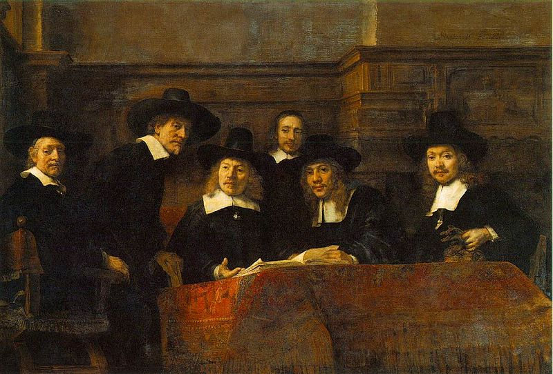 """The Syndics of the Amsterdam Draper's Guild"" by Rembrandt van Rijn, 1662."