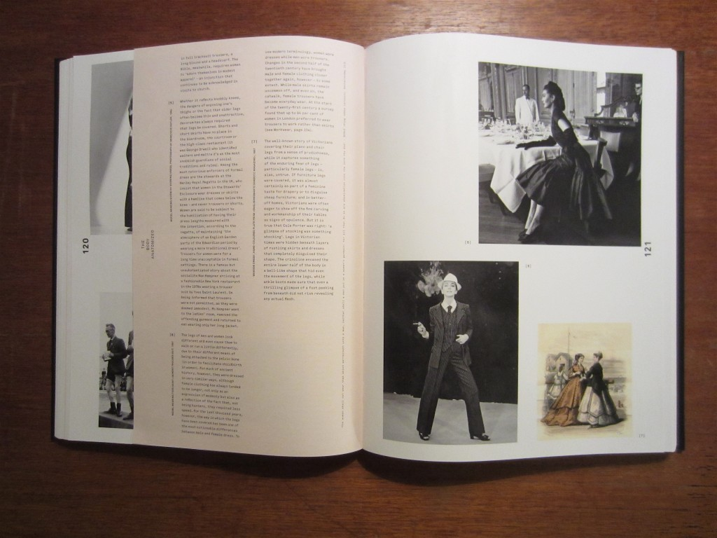"""From the """"Legs--Concealment + Display"""" section of """"The Anatomy of Fashion"""" by Colin McDowell, 2013."""