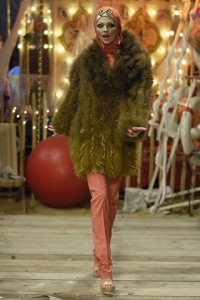 Edie - Galliano Spring 2008 RTW Cowl with Fur Coat