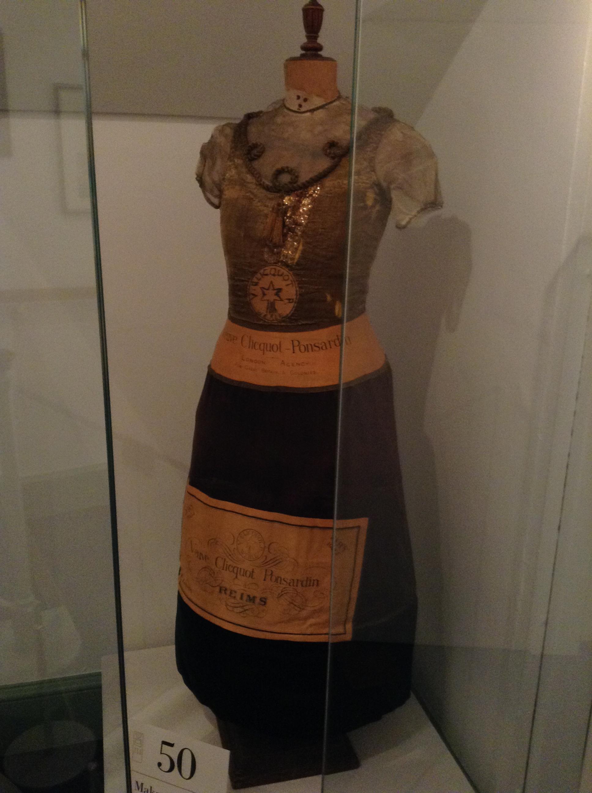Champagne bottle fancy dress 1904