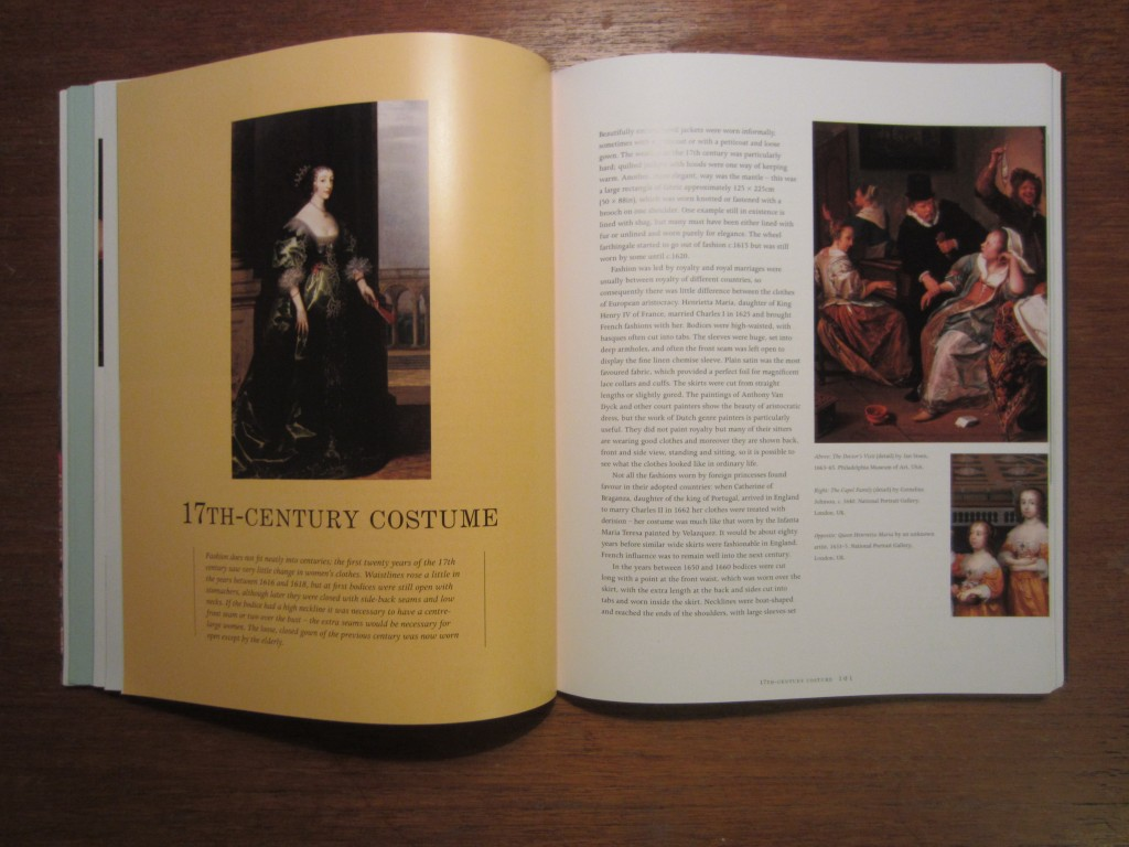 "Chapter title page from ""Creating Historical Costume"" by Elizabeth Friendship, 2013."