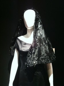 Probably Schiaparelli, Black Mink Hood, End of 1930s.