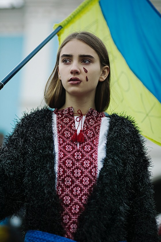 Protest fashion, Kiev, 2013. Photograph copyright Alexandra Trishina.
