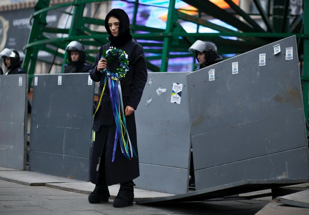 Protest fashion in Kiev, 2013. Photograph copyright Alexandra Trishina.