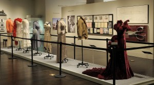 Eight of nine costumes on display in the exhibition, Making Movies, 2010 Harry Ransom Center