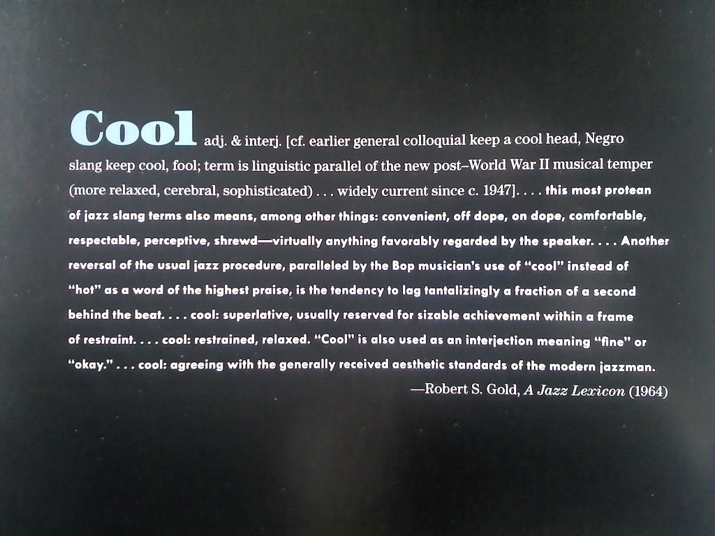 "From the book ""American Cool"" by Joel Dinerstein and Frank Goodyear, 2014."
