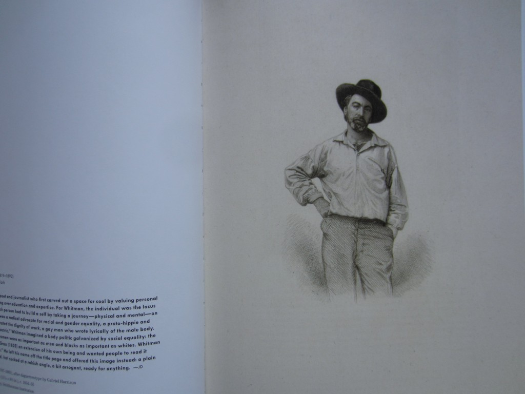 "Too cool for photography: Engraving after a daguerrotype of Walt Whitman, by Samuel Hollyer, c.1854-55. In the National Portrait Gallery collection and featured in the book ""American Cool"" by Joel Dinerstein and Frank Goodyear, 2014."