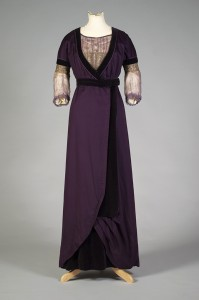Purple wool and chiffon dress American, 1912 KSUM 1986.20.1 a-c Photograph by Joanne Arnett