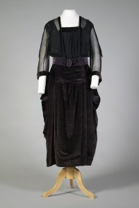 Purple velvet and chiffon dress American, 1918  KSUM 1995.17.86 ab Photograph by Joanne Arnett