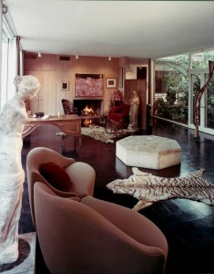 Menil House living room, 1964. The Menil Archives, the Menil Collection, Houston. Photo: Balthazar Korab