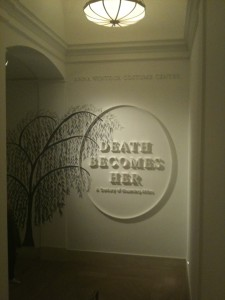 Death Becomes Her exhibition entrance Photo by the author