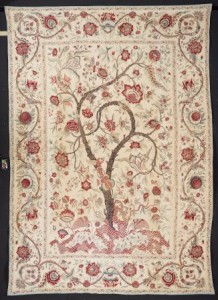 Unknown Palampore, 1700-1740 India, Coromandel Coast for the European market Cotton plain weave, painted and dyed 124 1/2 × 89 in. (316.23 × 226.06 cm) Los Angeles County Museum of Art, Gift of the Costume Council in memory of Mary Hunt Kahlenberg (M.2012.73) Photo © 2014 Museum Associates/ LACMA