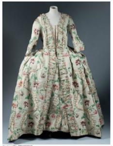Robe à la française, 1750-60.