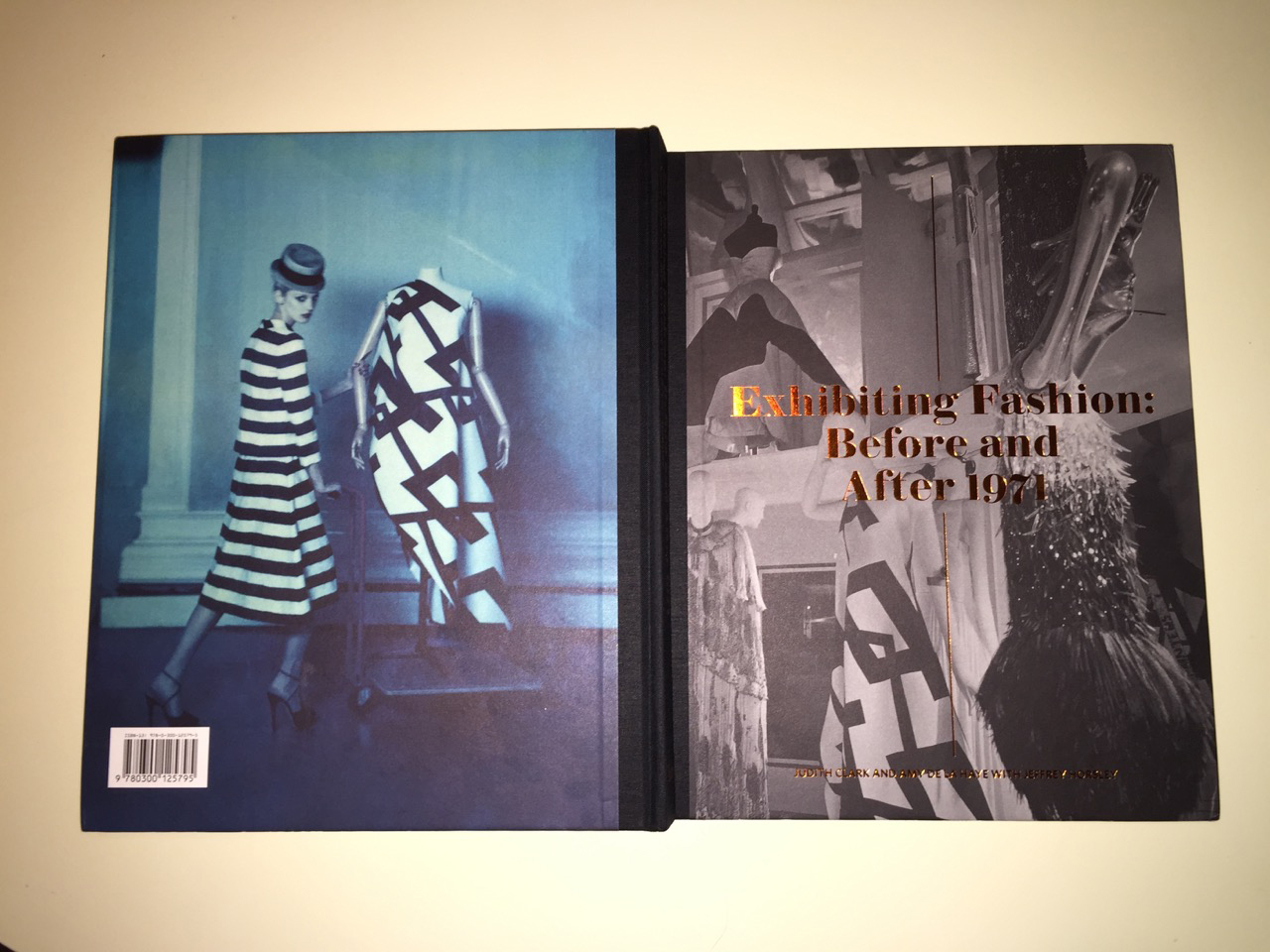 Front and back covers of Exhibiting Fashion: Before and After 1971, Yale University Press,