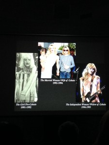 Kramer illustrates the significance of Courtney Love's role in the grunge movement by placing her life within the theoretical framework established by Simone de Beauvoir.
