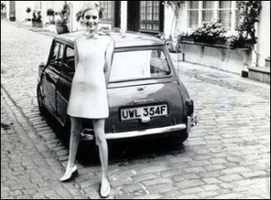 "The first Mini rolled off the production line in the late fifites but became as synonymous with the ""Swinging Sixties as the other, head-turning mini."""