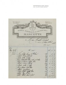 A bill from Mascotte, 7 July 1915 London Society Fashion,, V&A Publishing, 2015