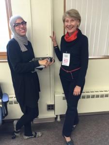 Kathleen Campbell and Eman Alshawaf of UMN
