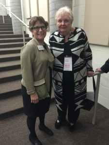 Lin Nelson Mayson of the Goldstein Museum of Design with Joanne