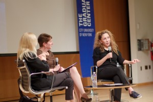 Reem Acra talks with Dr. Maria Conelli and Dr. Valerie Steele