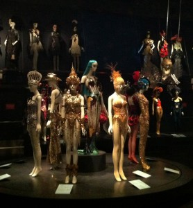 Installation view of the exhibition Fashion Underground: The World of Susanne Bartsch. Photograph by the author.