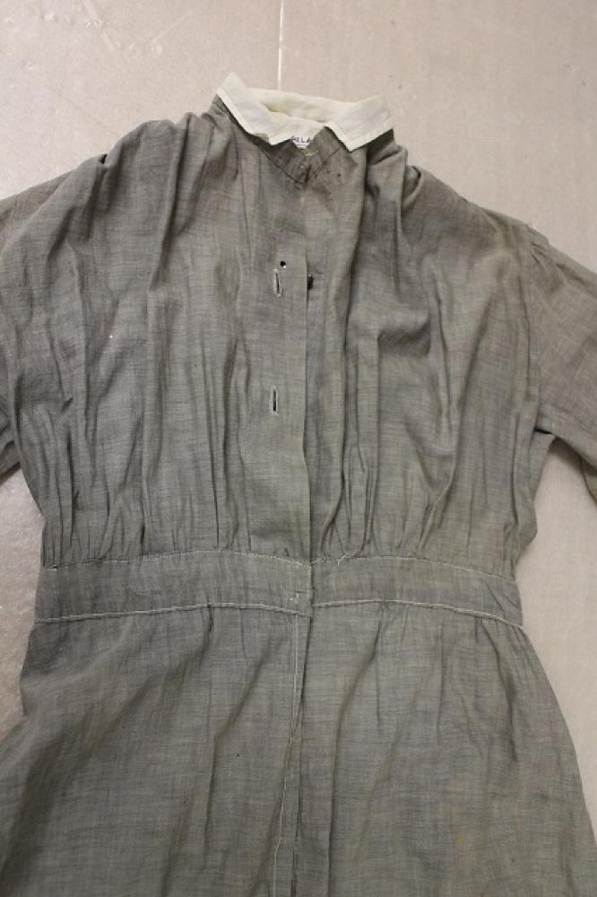Bodice detail of Sister Lummer's ward dress. RELAWM14065.001