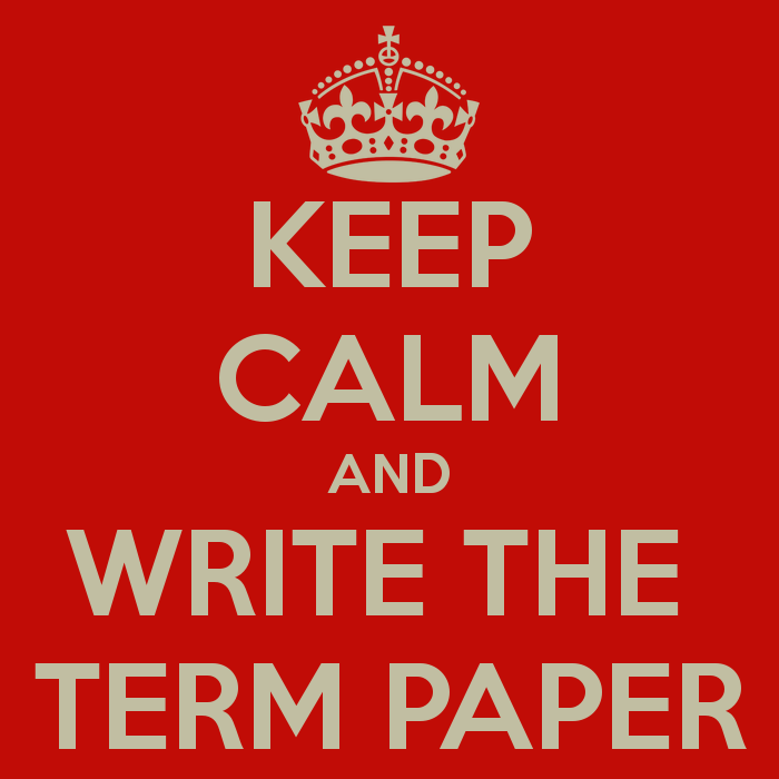 The term paper is due!