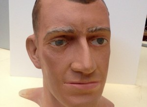 Mannequin head, c1950s, made by resident artist Wallace Anderson for the Australian War Memorial museum. Anderson went to great lengths to imbue his mannequins with realistic human qualities and often based them on real people who modeled for him.