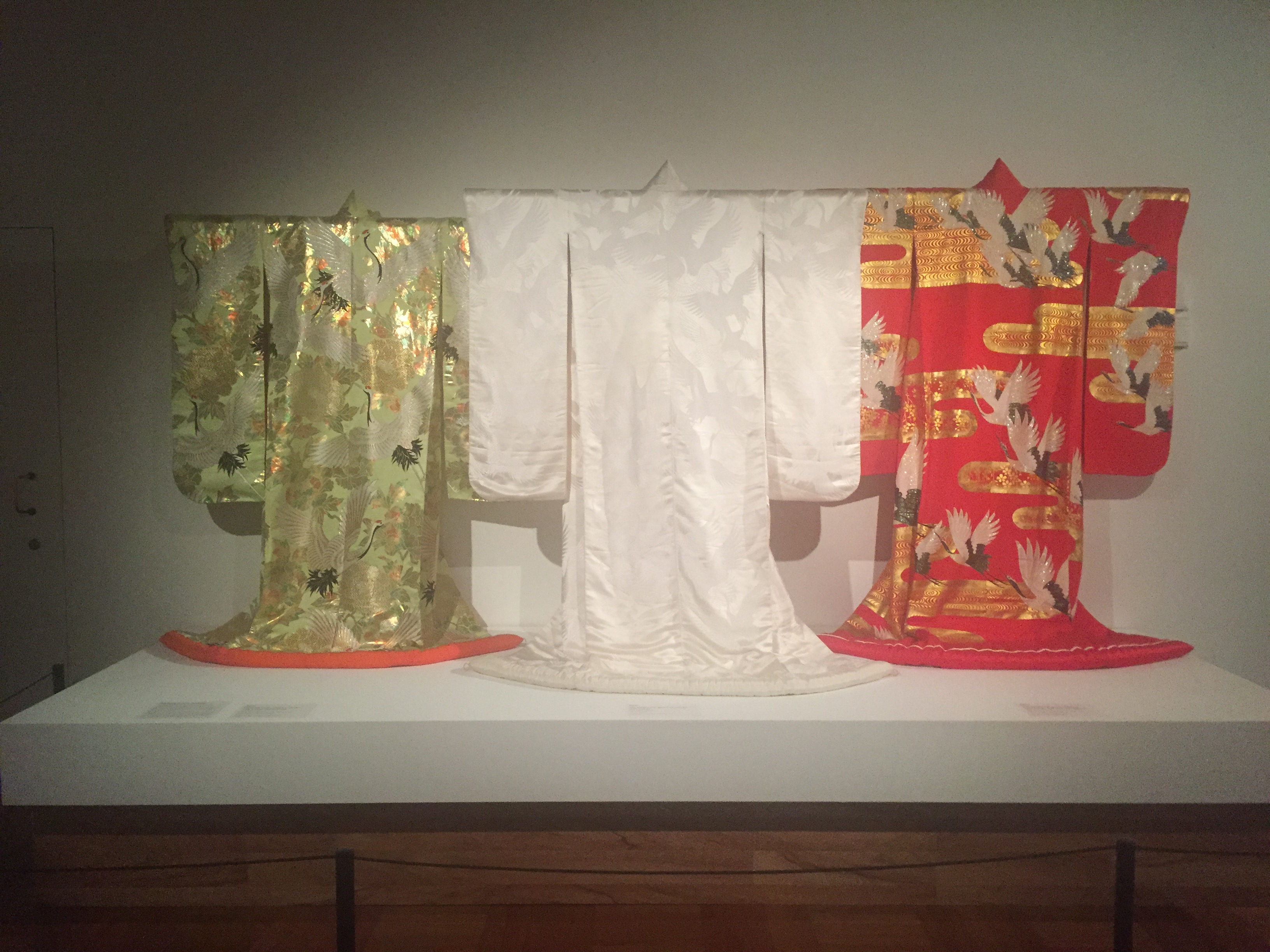Wedding kimonos on view