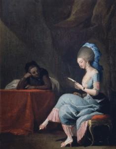 Lady Reading a Letter by Camaron Boronat (18th century). Museo de Bellas Artes, Bilbao, Spain.