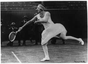 Suzanne Lenglen (June 29, 1925). Library of Congress Prints and Photographs Division.