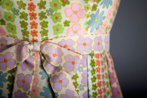 Richard Tam (American, 1941-1990), Dress (detail), c. 1968,  Silk, Robert and Penny Fox Historic Costume Collection, Drexel  University, Gift of Mrs. Robert L. McNeil, Jr. Purchased at Nan  Duskin. Photo by Michael J. Shepherd.