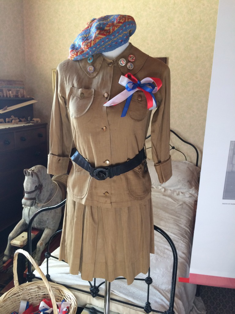 The outfit as imagined for a young girl collecting for the war horse Paeroa.
