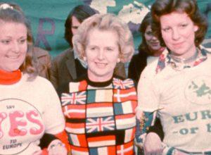 Margaret Thatcher in 1975 in support of EEC membership