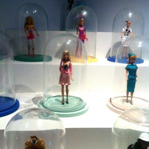 Barbies as precious objects in a cabinet of curiosities. Personal photograph