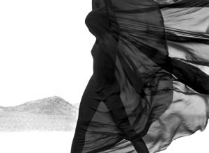 Versace Veiled Dress - El Mirage, 1990. Herb Ritts Foundation
