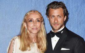 Franca Sozzani with her son Francesco Carrozzini